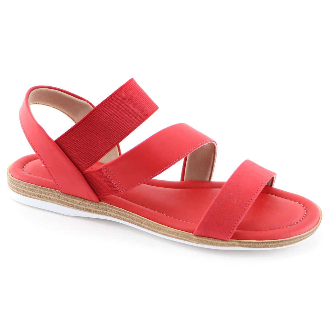 Red Flat Sandals (504.052)