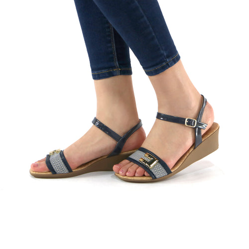 Black sandals for Women (153.009) - SIMPLY SHOES HONG KONG