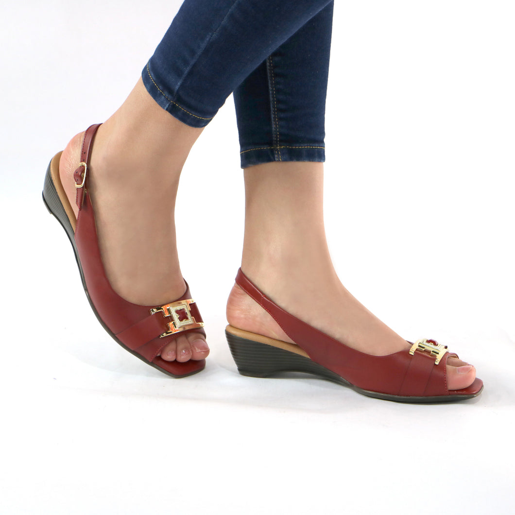 Burgundy Sandals for Women (161.137)
