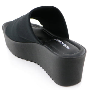 Black textile sandals (454.001) - SIMPLY SHOES HONG KONG