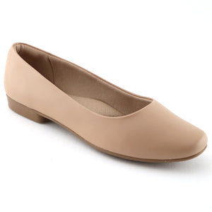 Beige Napa Flat Ballerina (250.115) - SIMPLY SHOES HONG KONG