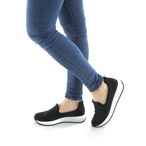 Black Casual Sneakers (973.017) - SIMPLY SHOES HONG KONG