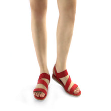 Red Flat Sandals (504.052) - SIMPLY SHOES HONG KONG