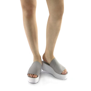 Grey textile Sandal (454.001) - SIMPLY SHOES HONG KONG