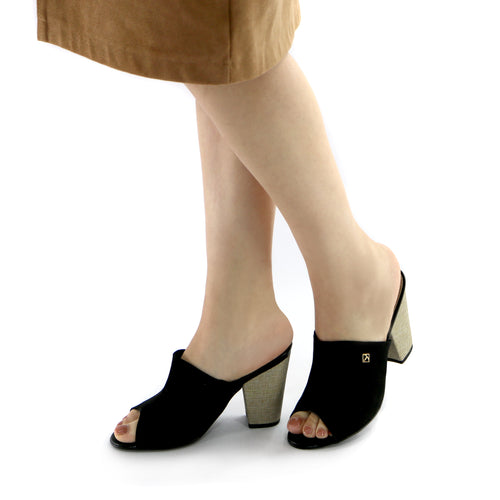 Black Heel Sandal (578.001) - SIMPLY SHOES HONG KONG
