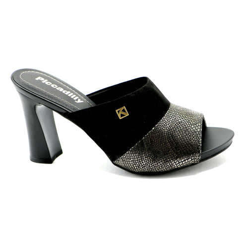Black /Gold High Heel Sandal for Womens (614.009)