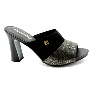 Black /Gold High Heel Sandal for Womens (614.009) - SIMPLY SHOES HONG KONG