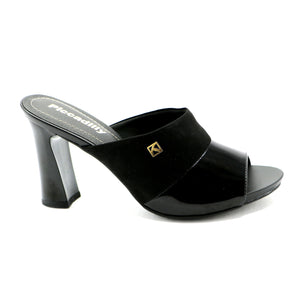 Black High Heel Sandal for Womens (614.009)