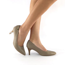 Taupe Napa Pump (745.050) - SIMPLY SHOES HONG KONG