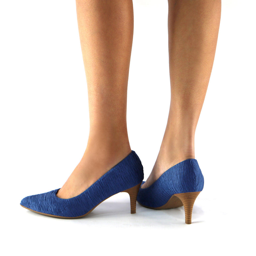 Blue Textile Pump for Women (745.035) - SIMPLY SHOES HONG KONG