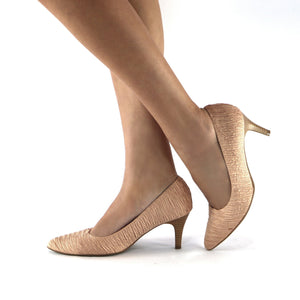 Nude Textile Pumps for Women (745.035) - Simply Shoes Hong Kong