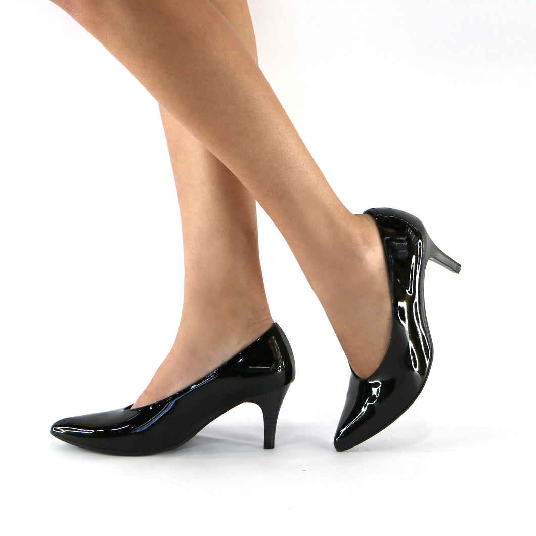 Black Patent Pumps (745.058) - SIMPLY SHOES HONG KONG