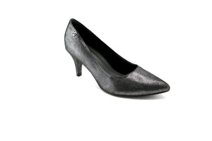 Black Metallic Pumps for Womens (745.050)