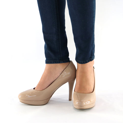 Taupe Patent Pumps (841.022)