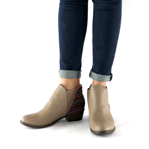 Etnico Taupe Multi Ankle Boot (652.002)