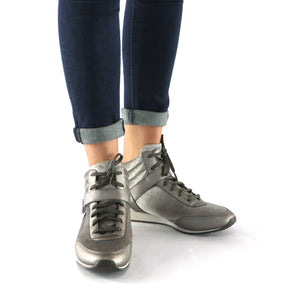 Pewter Casual Ankle Boots (968.008) - SIMPLY SHOES HONG KONG