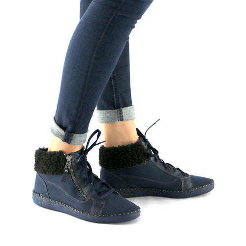 Blue Ankle Boot (964.006) - SIMPLY SHOES HONG KONG