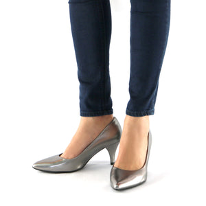 Pewter Pumps for Women (745.035) - SIMPLY SHOES HONG KONG
