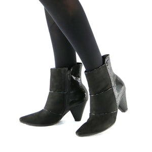 Black micr and snake Bootie (754.005 )