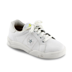 White Leather Sneakers (SS-7137) - SIMPLY SHOES HONG KONG