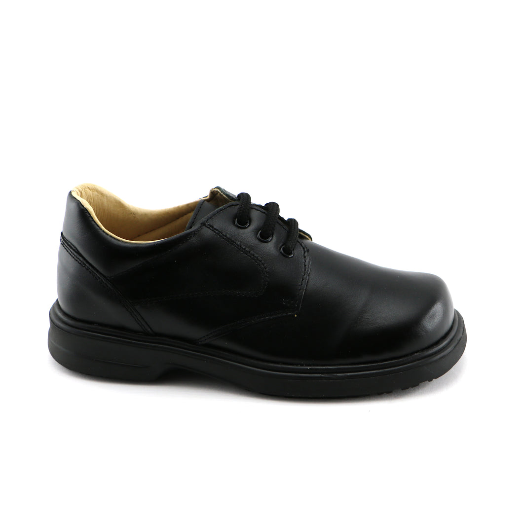 Black Leather Shoes (SS-8054) - SIMPLY SHOES HONG KONG