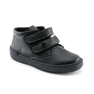 Black Leather School Shoe (SS-8053)