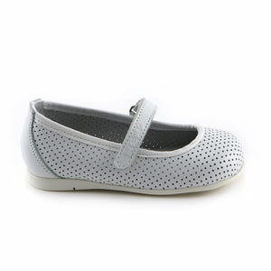 White leather Ballerina (SS-7139) - SIMPLY SHOES HONG KONG