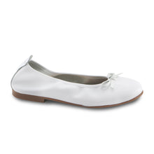 White Leather Ballerina (SS-7140) - SIMPLY SHOES HONG KONG