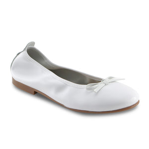 White Leather Ballerina (SS-7140)