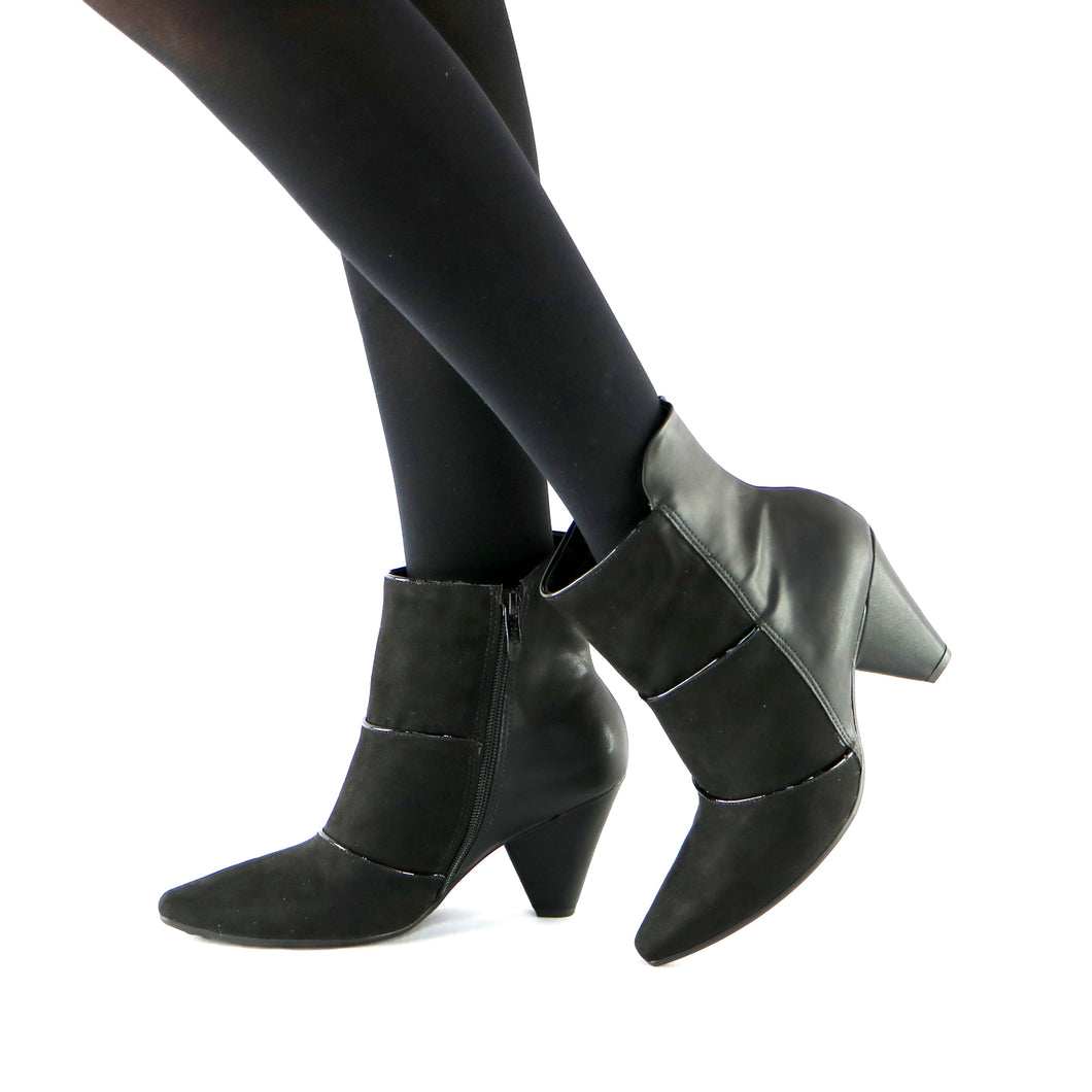 BLACK Napa and Micro Bootie (754.005)