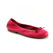 Fuschia Leather Ballerina (SS-7140) - SIMPLY SHOES HONG KONG
