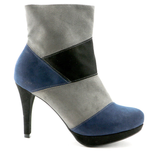 Grey and navy  boot (841.028) - SIMPLY SHOES HONG KONG