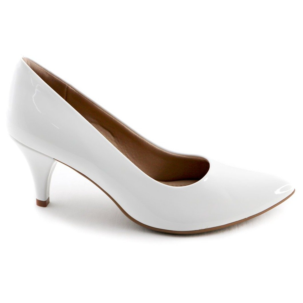 White Patent Pumps for Women (745.035) - SIMPLY SHOES HONG KONG