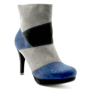 Grey/Navy Booties (841.028)