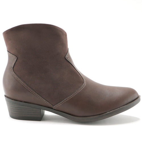 Napa and Microfibra Brown Ankle Boot (652.005) - SIMPLY SHOES HONG KONG