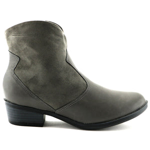 Napa and Microfibra Grey Ankle Boot (652.005) - SIMPLY SHOES HONG KONG