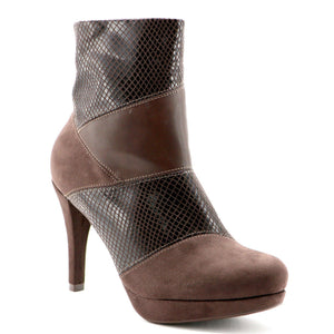 Brown Snake booties (841.028) - SIMPLY SHOES HONG KONG