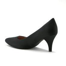 Black Satin Pumps for Women (745.035) - SIMPLY SHOES HONG KONG