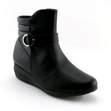 Black Napa comfort Ankle Boot (117.029) - SIMPLY SHOES HONG KONG