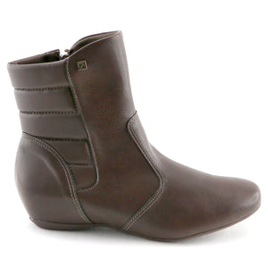 Brown Napa Ladies Ankle Boot (234.015) - SIMPLY SHOES HONG KONG