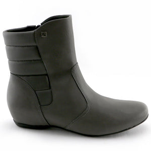 Grey Napa Ladies Ankle Boot (234.015) - SIMPLY SHOES HONG KONG