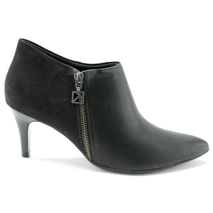 Black Napa with Microfiber Ankle Boot (745.055) - SIMPLY SHOES HONG KONG