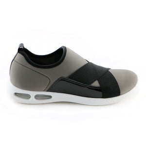 LightStep Slip On Grey and Black Ladies Sneaker (979.002)
