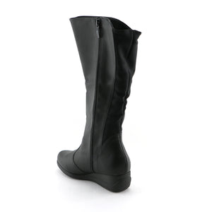 Black Napa with Stretch Long Boot (117.032)
