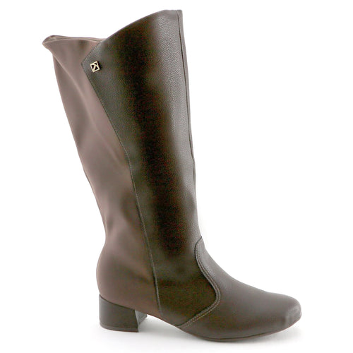 Brown Napa and Stretch Ladies Long Boot (141.079) - SIMPLY SHOES HONG KONG