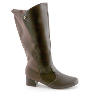 Brown Napa and Stretch Ladies Long Boot (141.079)