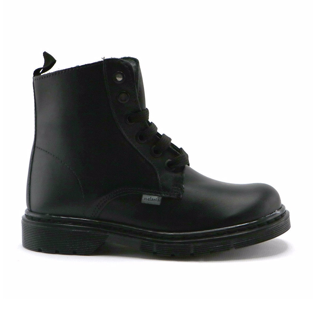 Black leather classic Ankle Boots (SS-7064) - SIMPLY SHOES HONG KONG