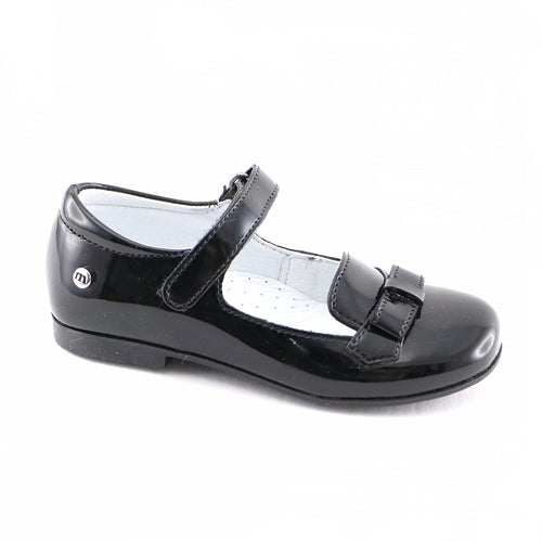 Black leather ballerina (SS-7119) - SIMPLY SHOES HONG KONG
