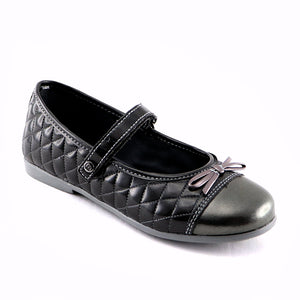 Grey Leather Ballerina (SS-7122)