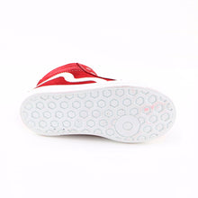 Red Leather Girls Sneaker (SS-7124) - SIMPLY SHOES HONG KONG